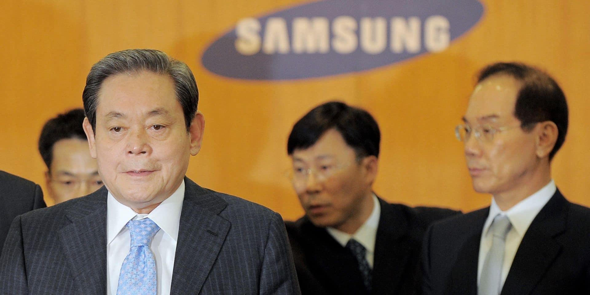 Lee-Kun-Hee (gauche) en 2008.