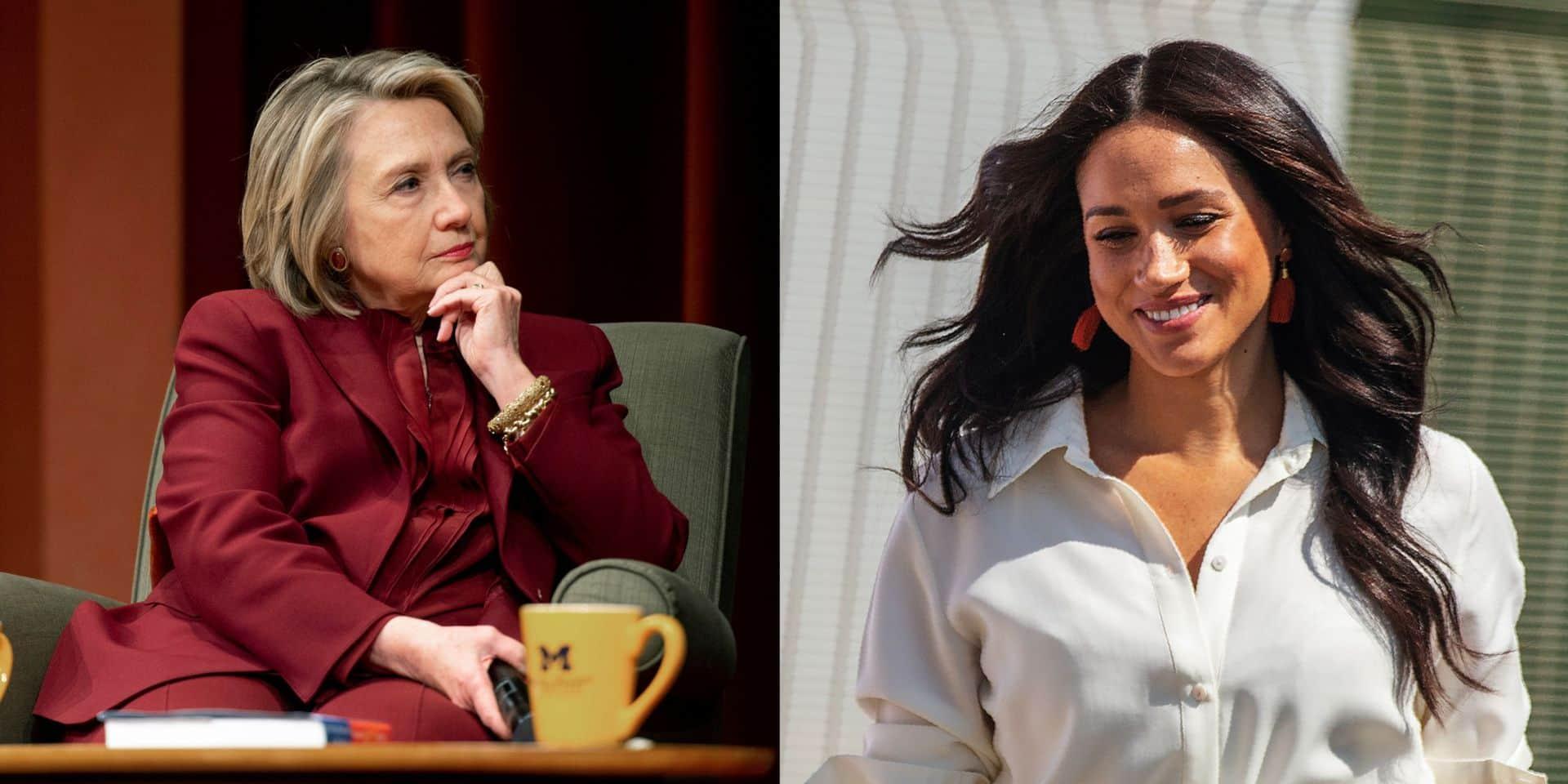 """Hillary Clinton vient à la rescousse de Meghan Markle et croit savoir pourquoi elle est """"harcelée"""""""