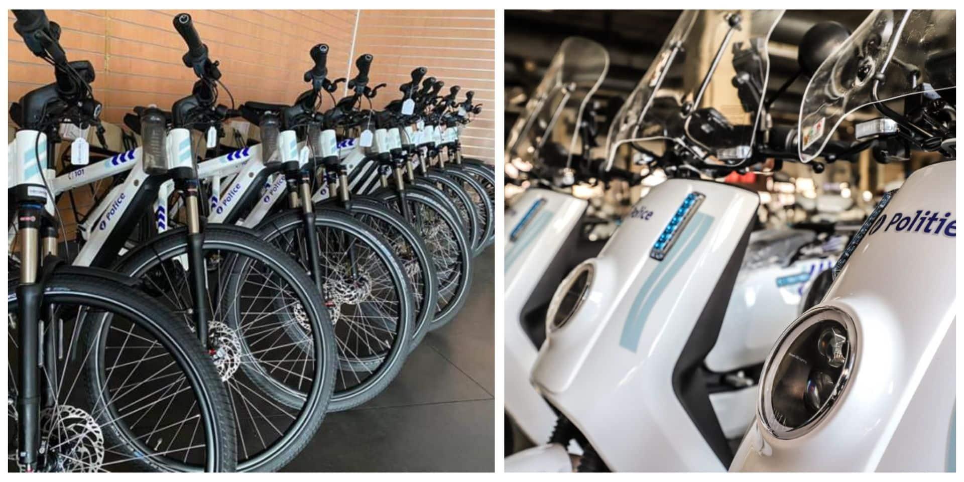 La police de Bruxelles-Ixelles accueille ses premiers vélos et scooters électriques