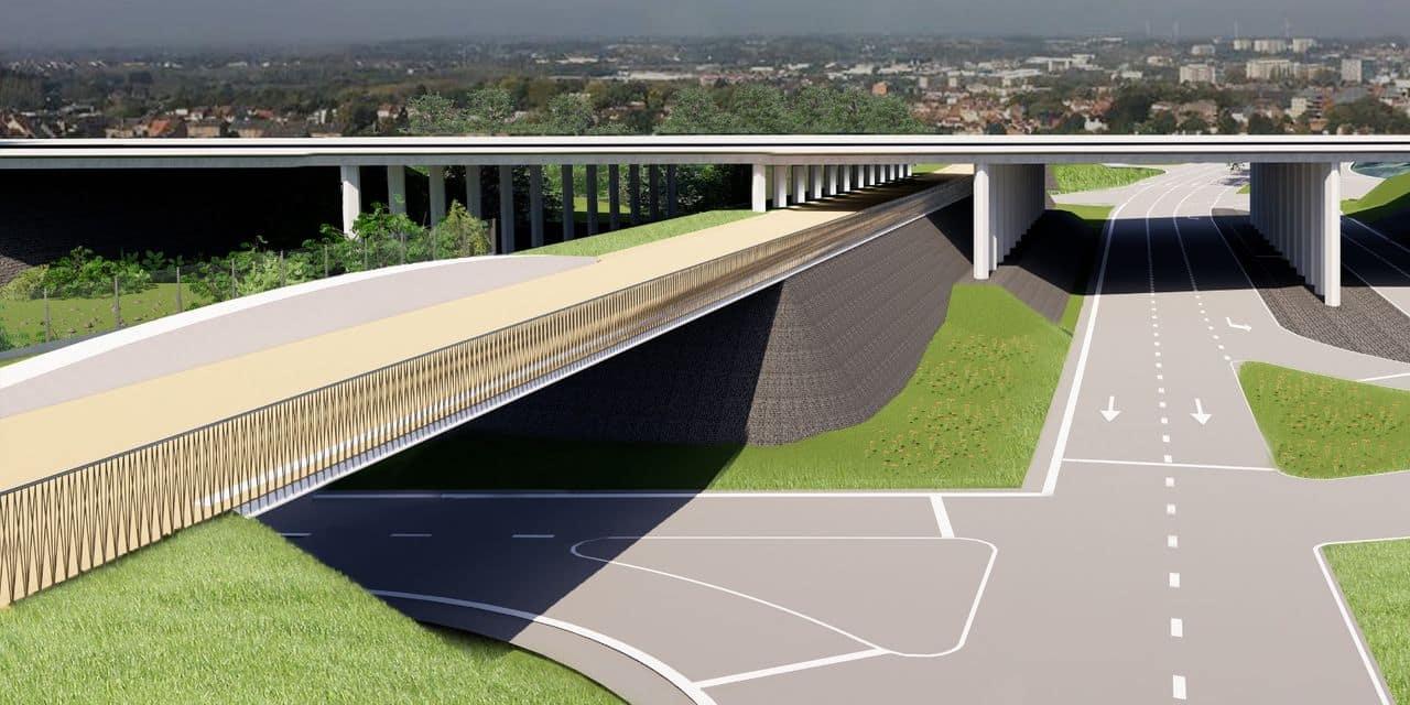 """Une piste cyclo-piétonne """"volante"""" verra le jour fin 2022 sous l'échangeur 6 du Ring de Bruxelles"""