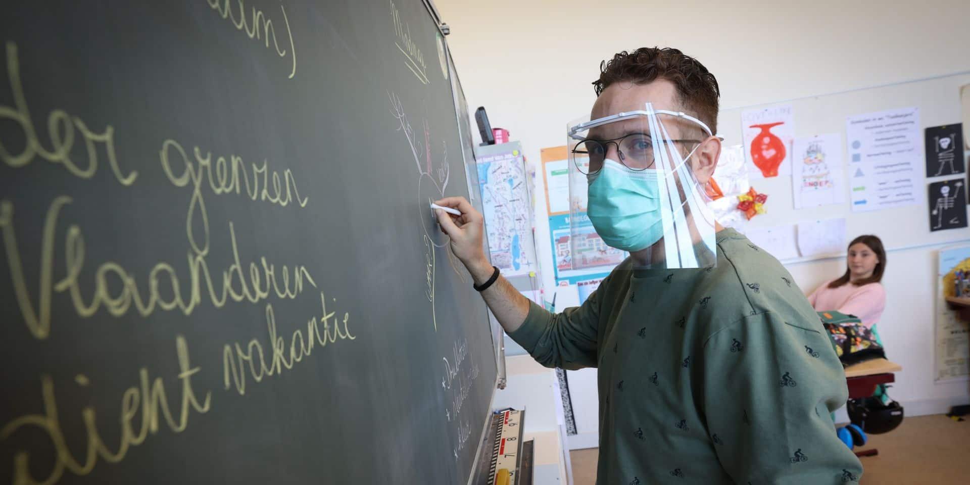 """Retour en classe sans encombre dans les écoles flamandes: """"Il faudra un peu de temps pour s'habituer aux masques buccaux"""""""