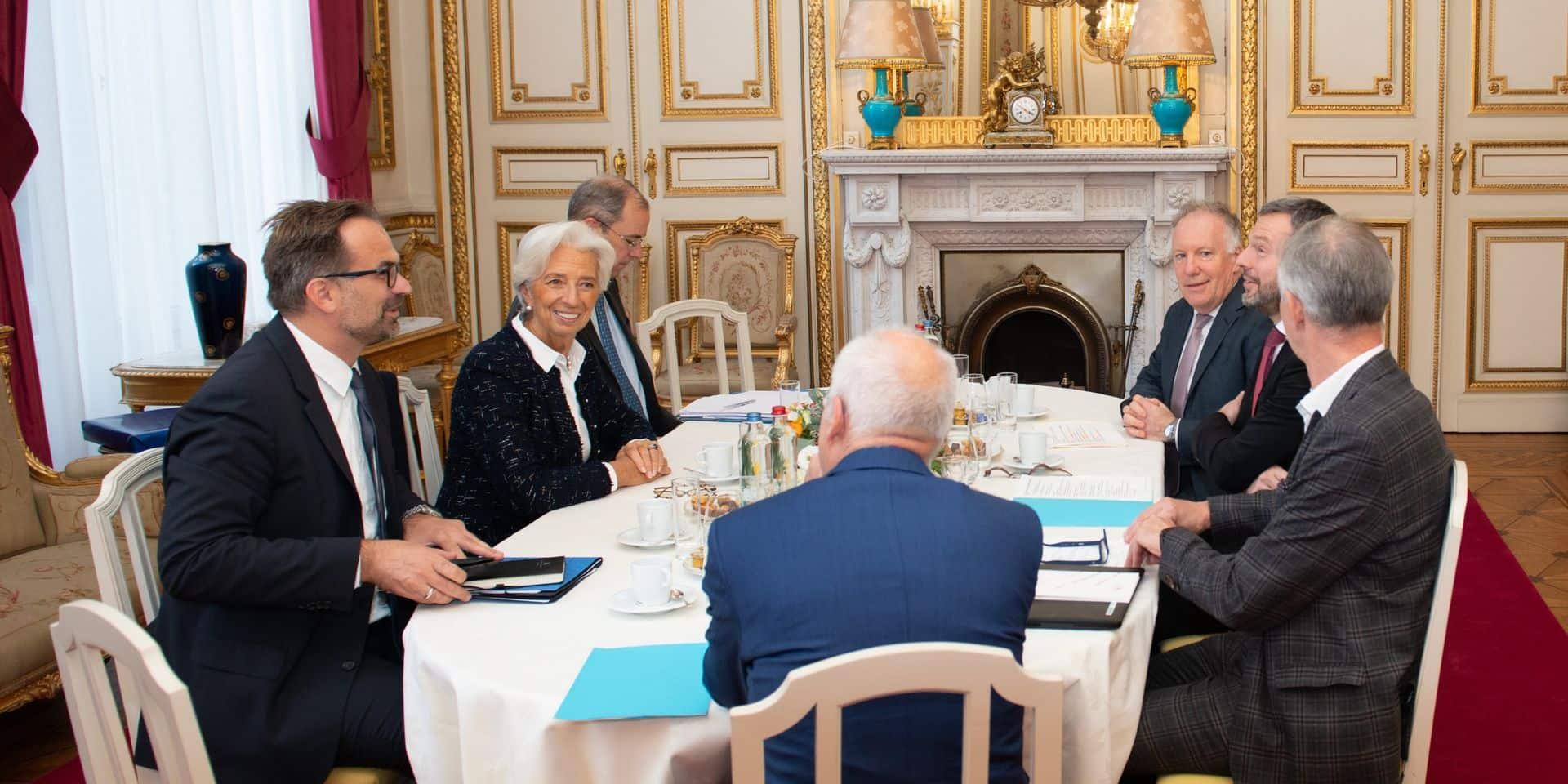Première visite de Christine Lagarde ... à la Banque nationale