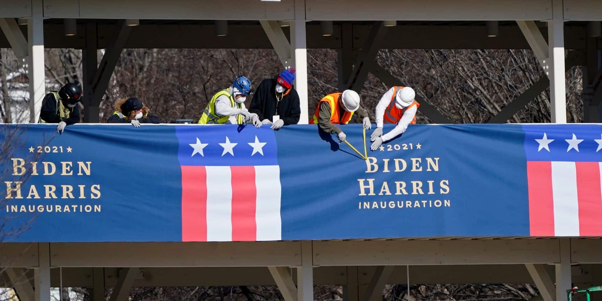 Une investiture sous haute tension réduite à l'essentiel pour Joe Biden