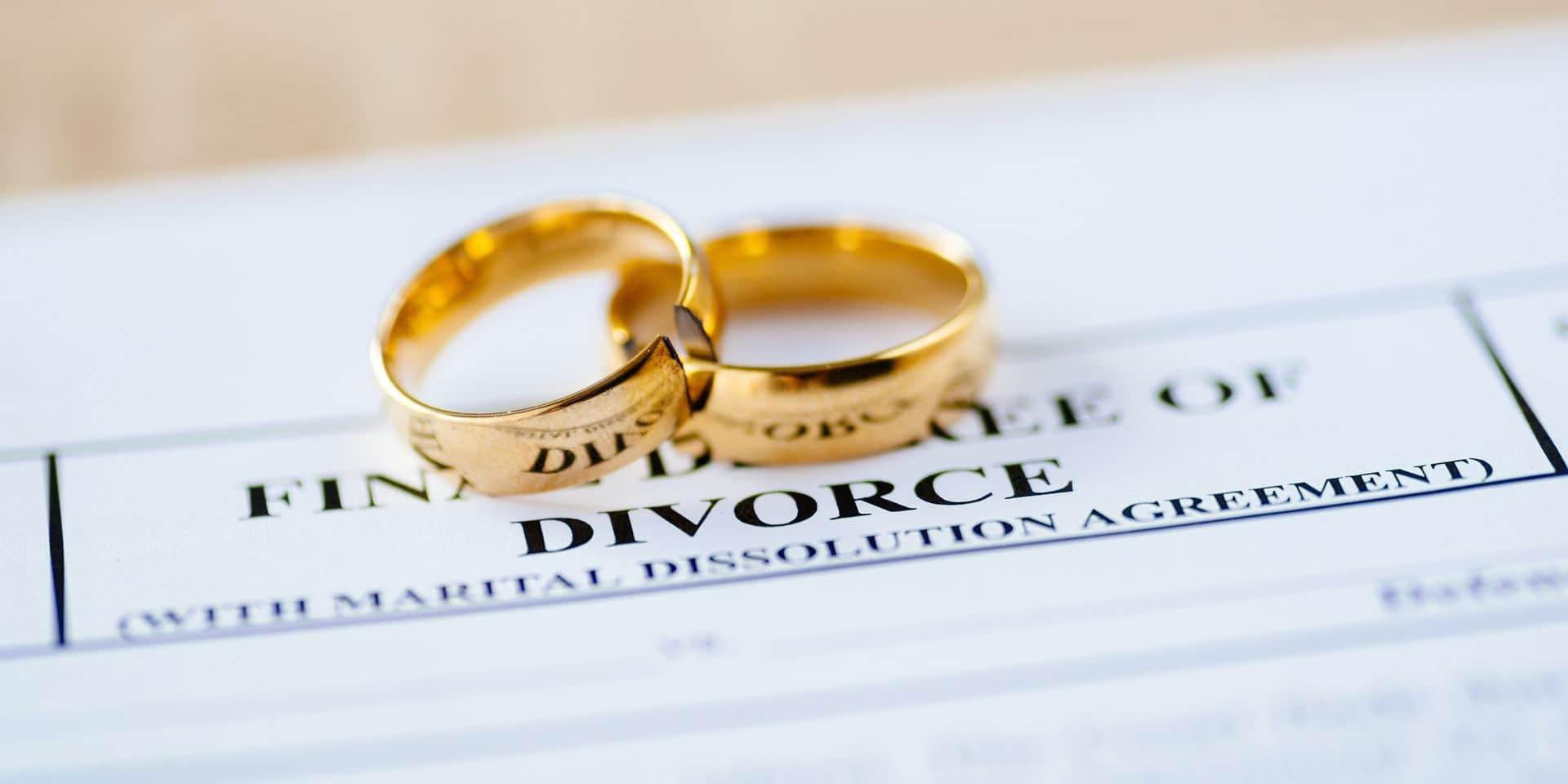 Les Belges divorcent de moins en moins vite