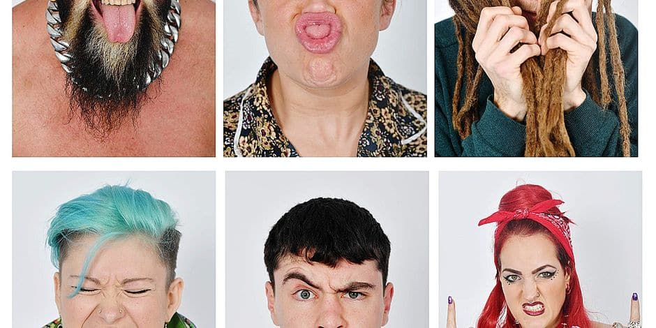 A composite image shows potential models during a casting at the UGLY model agency in London on January 25, 2018. Long necks, large chins, flapping ears, crooked noses: welcome to Ugly Models, a London modelling agency of a different stripe, where imperfections are heralded. / AFP PHOTO / BEN STANSALL / TO GO WITH AFP STORY by EDOAURD GUIHAIRE