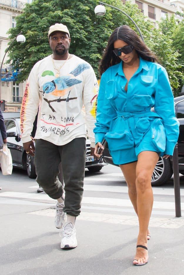 Kanye West et Kim Kardashian pour la première fois de retour à Paris depuis son braquage.