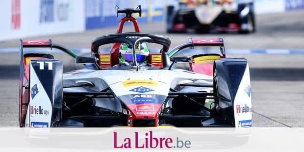 25 May 2019, Berlin: Motorsport: Formula E Championship, ePrix, race at Tempelhof Airport: Lucas di Grassi from Team Audi Sport ABT Schaeffler drives on the race track during the qualifying for the starting grid of the Formula E Championship. Photo: Britta Pedersen/dpa-Zentralbild/dpa Reporters / DPA
