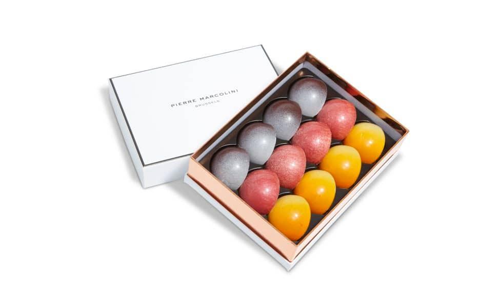 Coffret de 15 demi-sphères colorées, Pierre Marcolini, 25€