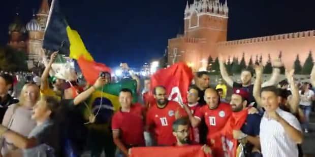 Supporters belges et tunisiens s'amusent ensemble à la veille du match - La Libre