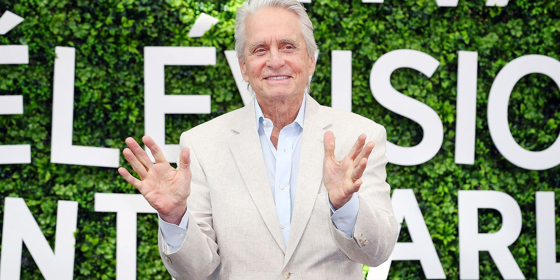Michael Douglas attends a photocall during the 59th Monte Carlo TV Festival at Grimaldi Forum on June 18, 2019 in Monte-Carlo, Monaco. Reporters / Crystal Pictures