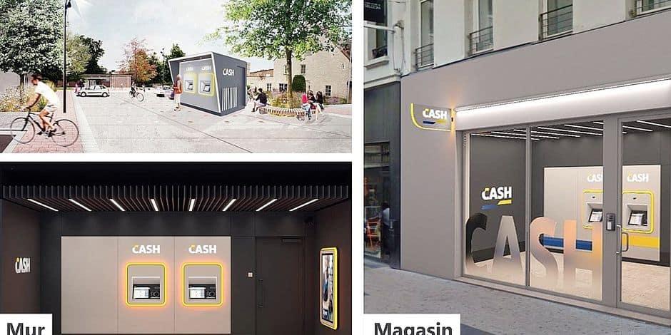 """Ces points CASH dits """"neutres""""- car sans logo d'une des 4 banques permettront le retrait d'argent, la modification du code Pin et le dépôt d'espèces."""