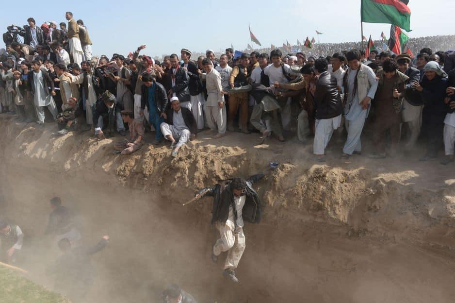 Mars 2014. Des supporters du candidat à la présidentielle afghane Ashraf Ghani, rassemblés dans la province de Kunduz.