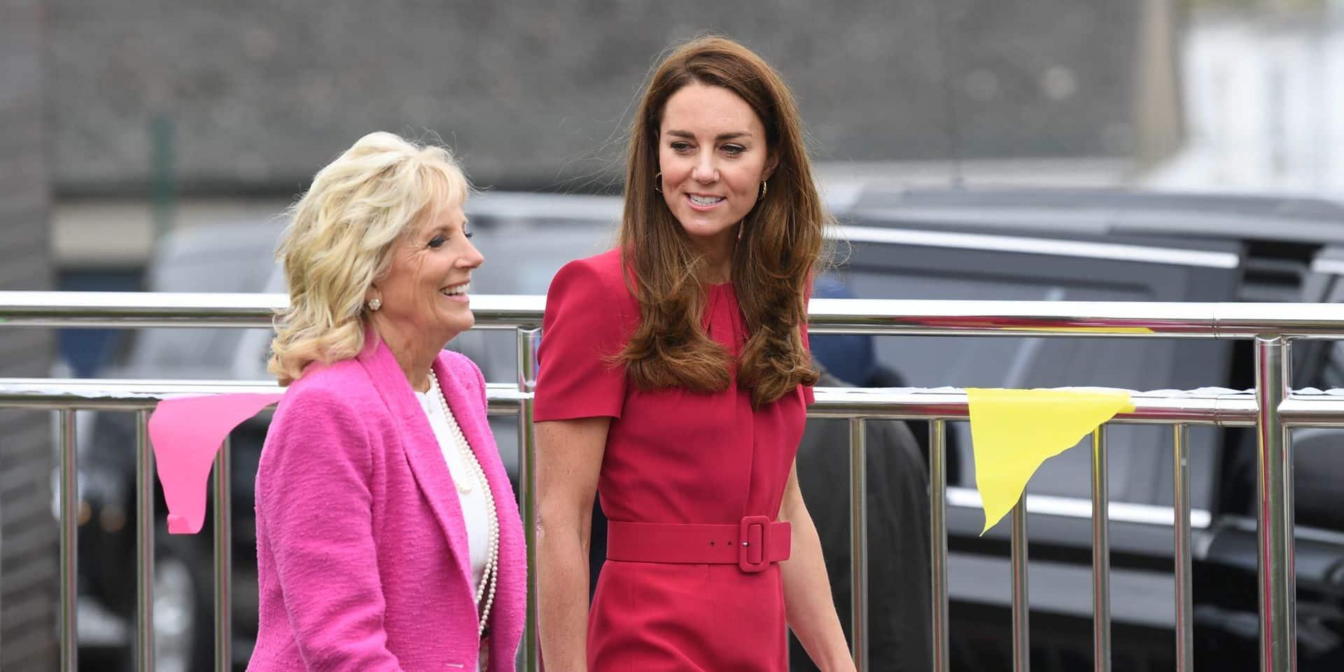 Duo de choc avec Kate Middleton, clin d'oeil ironique à Melania Trump... Jill Biden fait sensation au G7
