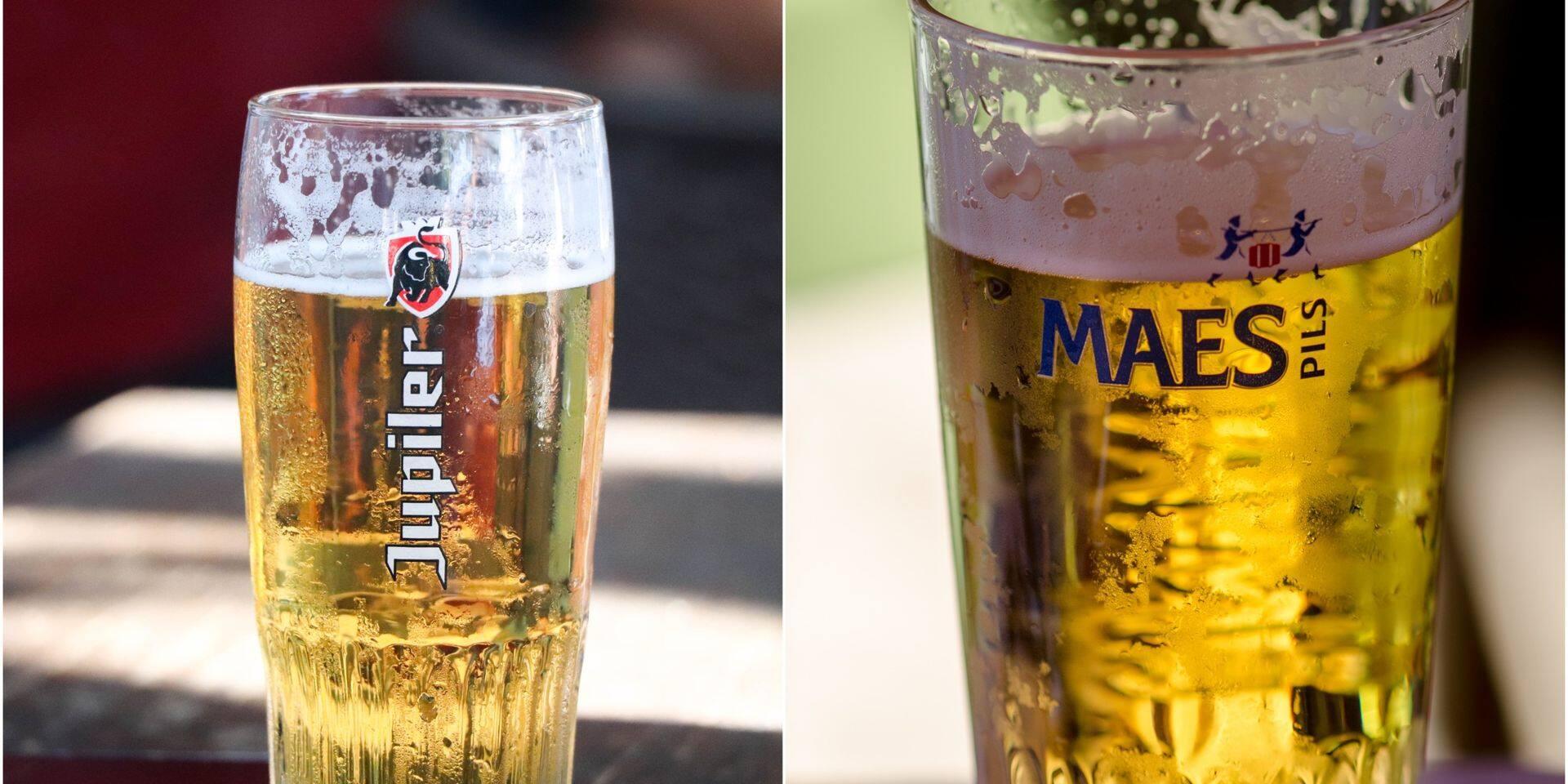 Maes, Jupiler ou autre : les verres ne risquent pas d'être vides pour la reprise.