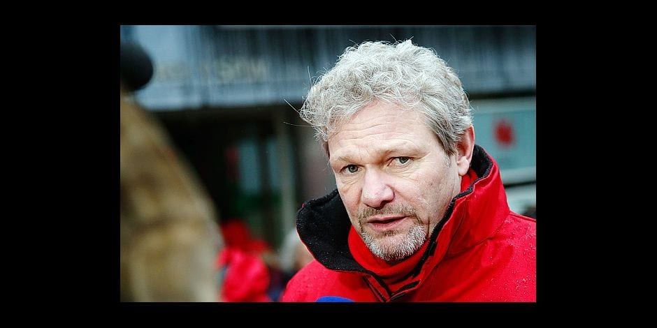 FGTB Wallonia General secratary Thierry Bodson pictured during a demonstration of the unions of the public services, Thursday 30 November 2017, in Namur. BELGA PHOTO BRUNO FAHY