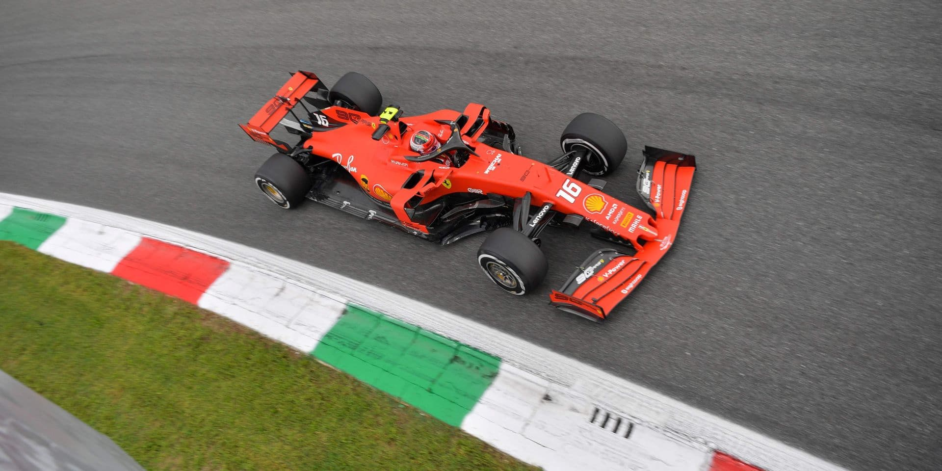Ferrari's Monegasque driver Charles Leclerc drives during the second practice session at the Autodromo Nazionale circuit in Monza on September 6, 2019 ahead of the Italian Formula One Grand Prix. (Photo by Andrej ISAKOVIC / AFP)