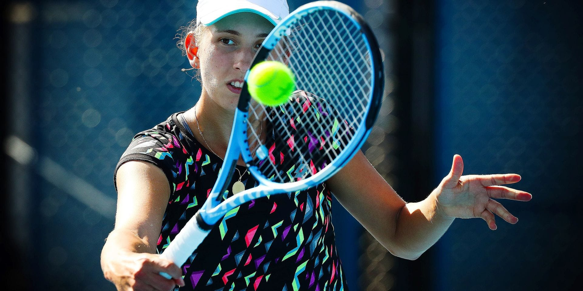Elise Mertens (WTA 37) pictured at a training session of Belgian Elise Mertens (WTA 37) ahead of her quarter final match at the women's singles tournament at the 'Australian Open' tennis Grand Slam, Monday 22 January 2018 in Melbourne Park, Melbourne, Australia. This first grand slam of the season will be taking place from 15 to 28 January. BELGA PHOTO PATRICK HAMILTON