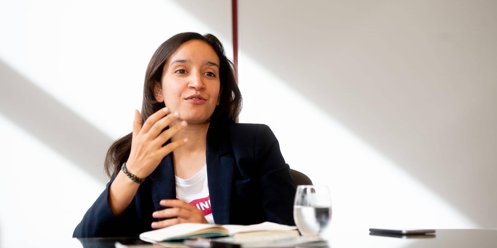 Bruxelles - Chambre des representants - parlement federal: Rajae Maouane (Ecolo) - Copresidente