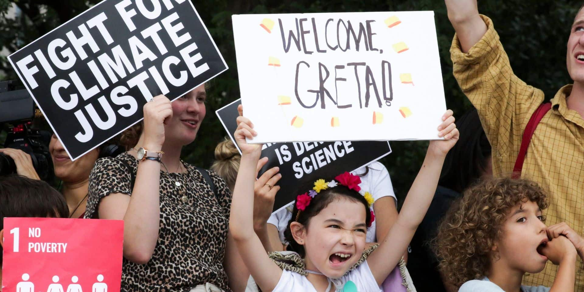 Climat: première manifestation avec Greta Thunberg à New York