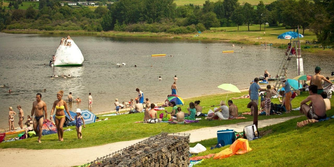 Les lacs de Bütgenbach et de Robertville complets