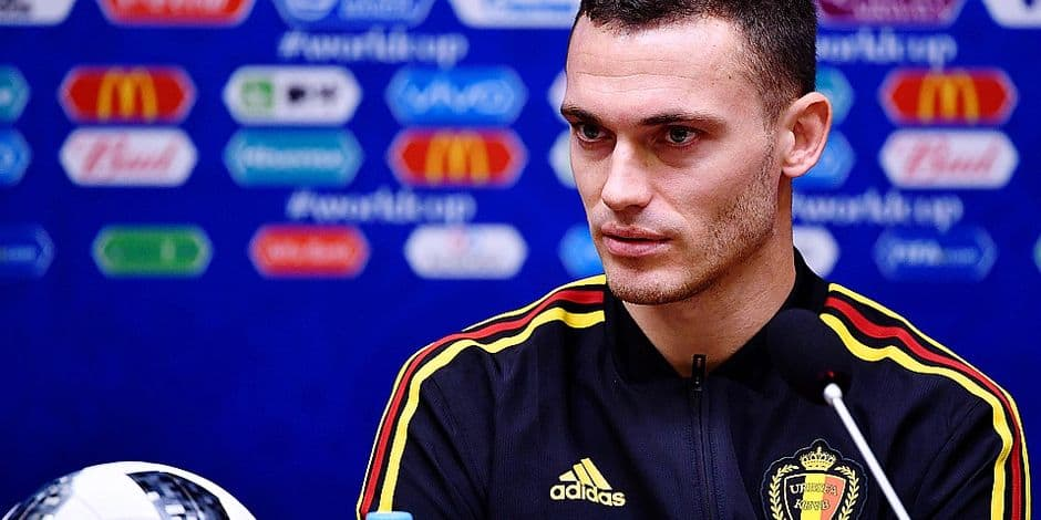 Belgium's Thomas Vermaelen pictured during a press conference of Belgian national soccer team the Red Devils in the Kaliningrad stadium, in Kaliningrad, Russia, Wednesday 27 June 2018. The team will play tomorrow their third game against England in the group stage of the FIFA World Cup 2018. BELGA PHOTO DIRK WAEM