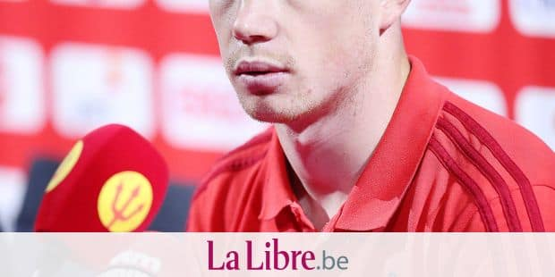 Belgium's Kevin De Bruyne pictured during a press contact with some players of the Belgian national soccer team Red Devils, Friday 08 June 2018, in Tubize. The Red Devils started their preparations for the upcoming FIFA World Cup 2018 in Russia. BELGA PHOTO BRUNO FAHY