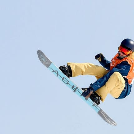 Belgian snowboarder Seppe Smits pictured during a training session ahead of Winter Olympics, Thursday 08 February 2018, in Pyeongchang, South Korea. The XXIII Olympic Winter Games are taking place from 9 February to 25 February in Pyeongchang County, South Korea. BELGA PHOTO DIRK WAEM