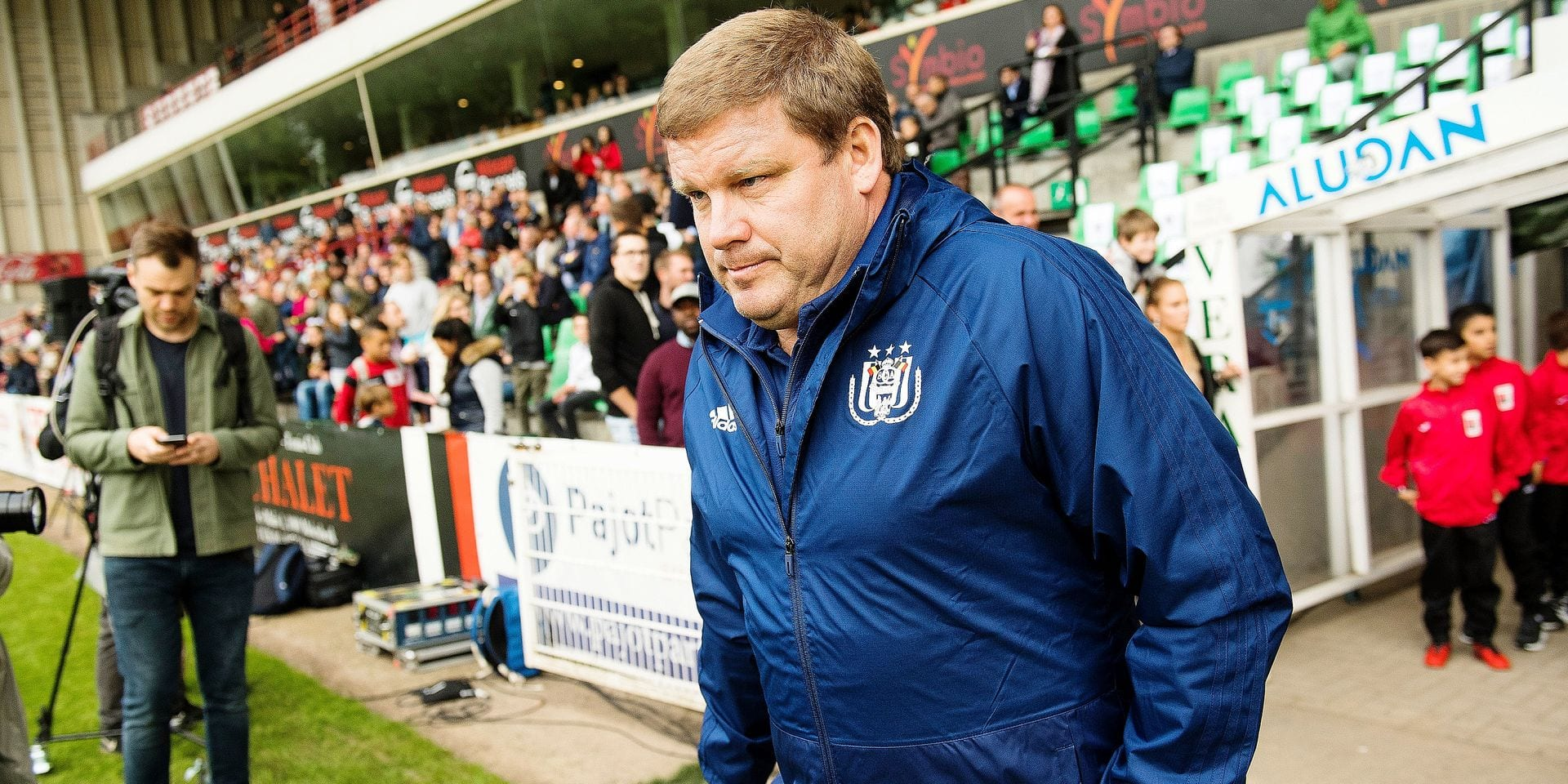 Anderlecht's head coach Hein Vanhaezebrouck pictured during a friendly game, the first of the new season 2018-2019 for Anderlecht, between RWDM and RSC Anderlecht, in Brussels, Friday 22 June 2018. BELGA PHOTO LAURIE DIEFFEMBACQ