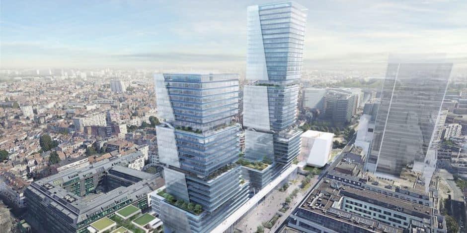 """Le champ de tours de la rue de la Loi s'estompe de plus en plus : """"On double le nombre de mètres carrés existants mais aura-t-on autant besoin de bureaux qu'avant ?"""""""