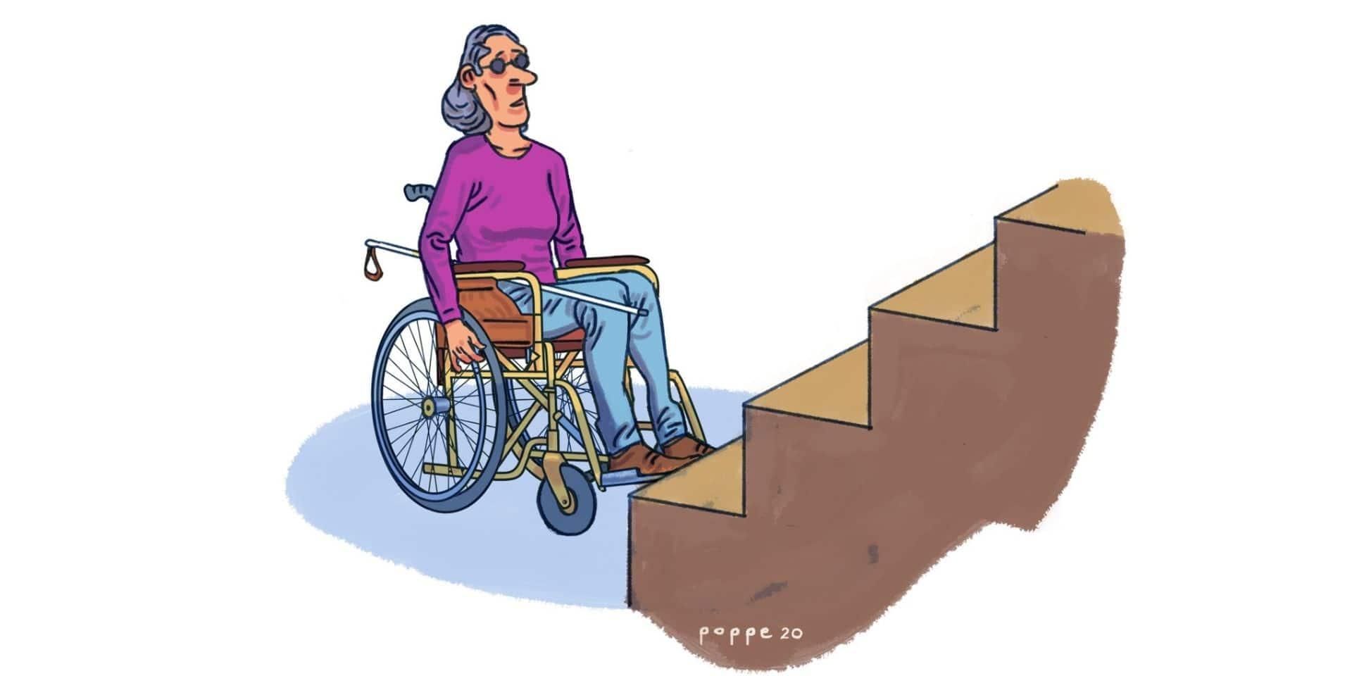 Les personnes handicapées sont toujours sur le banc de touche