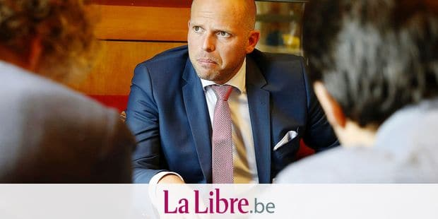 State Secretary for Asylum Policy, Migration and Administrative Simplification Theo Francken talks to the press during the second day in Tbilisi, Georgia, Tuesday 12 June 2018. Belgian state secretary for asylum and migration is on a three days visit in Georgia. BELGA PHOTO NICOLAS MAETERLINCK