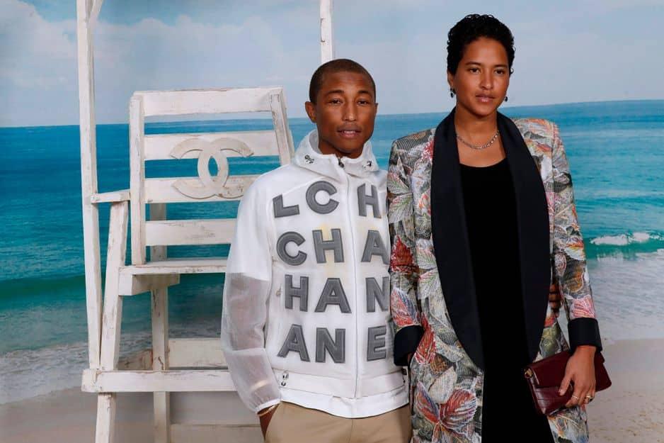 Pharrell Williams et le mannequin Helen Lasichanh