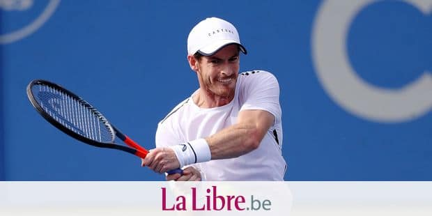 WASHINGTON, DC - JULY 31: Andy Murray, playing with his brother Jamie Murray of Great Britain, returns a shot during their doubles match against Nicolas Mahut and Edouard Roger-Vasselin of France during Day 3 of the Citi Open at Rock Creek Tennis Center on July 31, 2019 in Washington, DC. Rob Carr/Getty Images/AFP == FOR NEWSPAPERS, INTERNET, TELCOS & TELEVISION USE ONLY ==