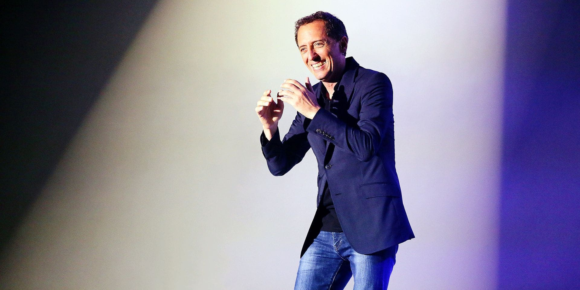 Gad Elmaleh during his show in Bordeaux, France on September 28 , 2014. Photo by Bernard-Salinier/ABACAPRESS.COM Reporters / Abaca