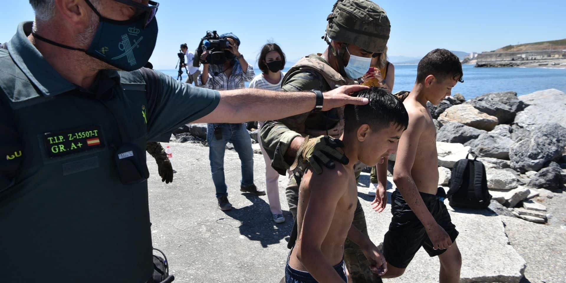 La situation à la frontière espagnole de Ceuta se calme