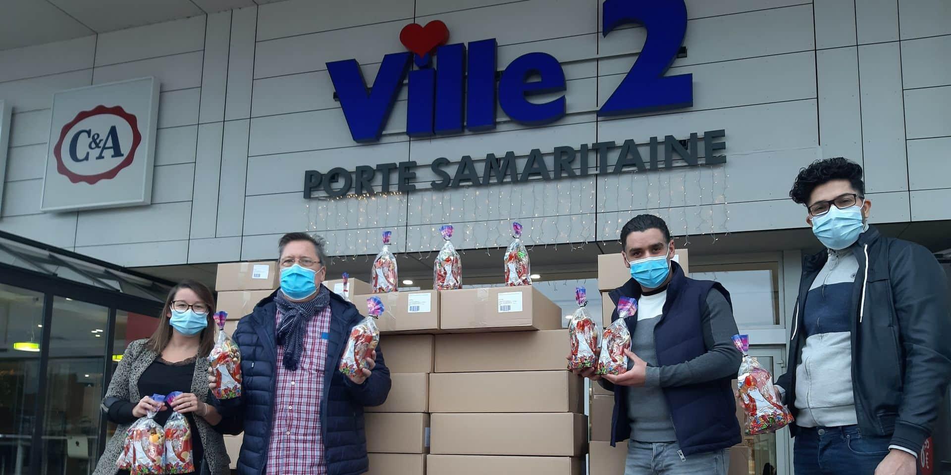 Les commerçants de Ville 2 offrent 1.300 sacs de bonbons aux enfants défavorisés