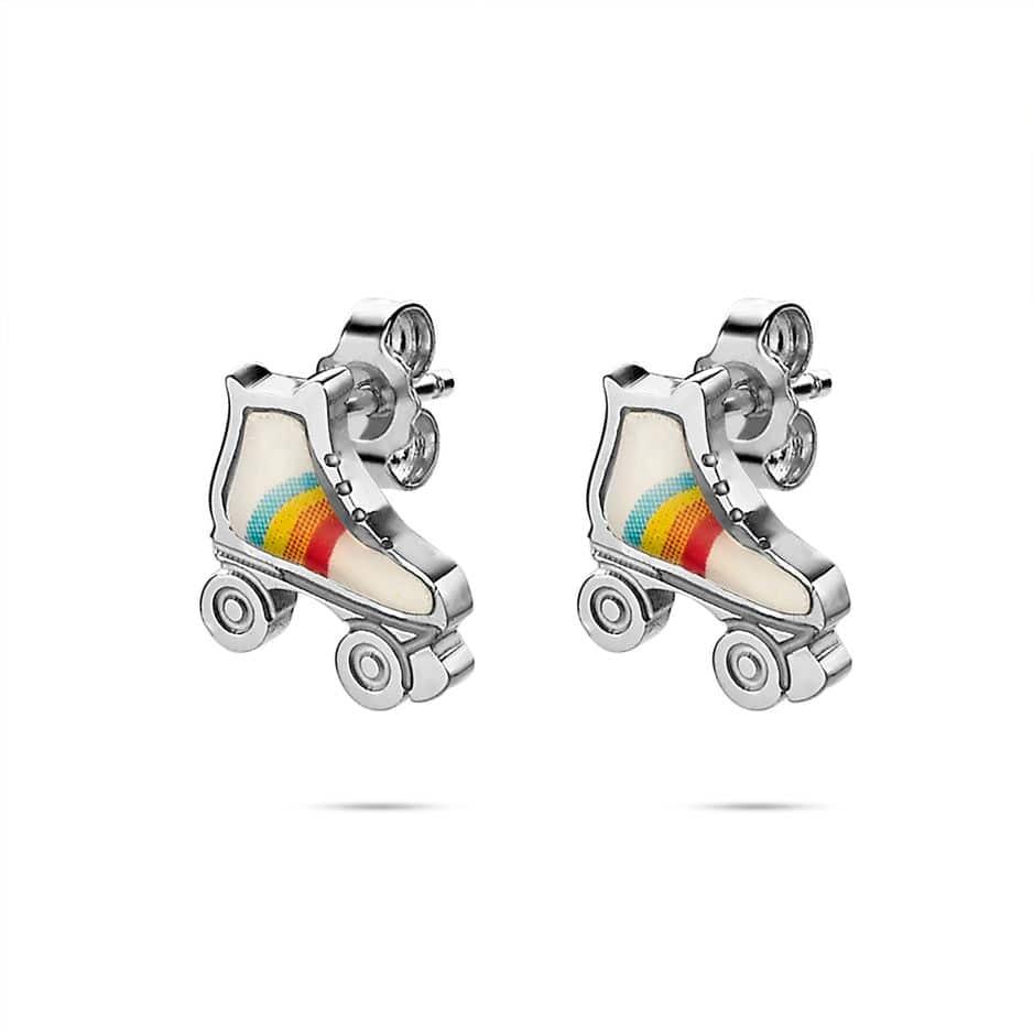 La marque belge de bijoux Twice As Nice a créé une collection exclusive de bijoux pour les petites filles. Boucles d'oreilles patins à roulettes.                                                                                                   www.twiceasnice.be