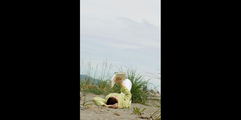 Woman Reading A Book, Island View Beach, Victoria, British Columbia
