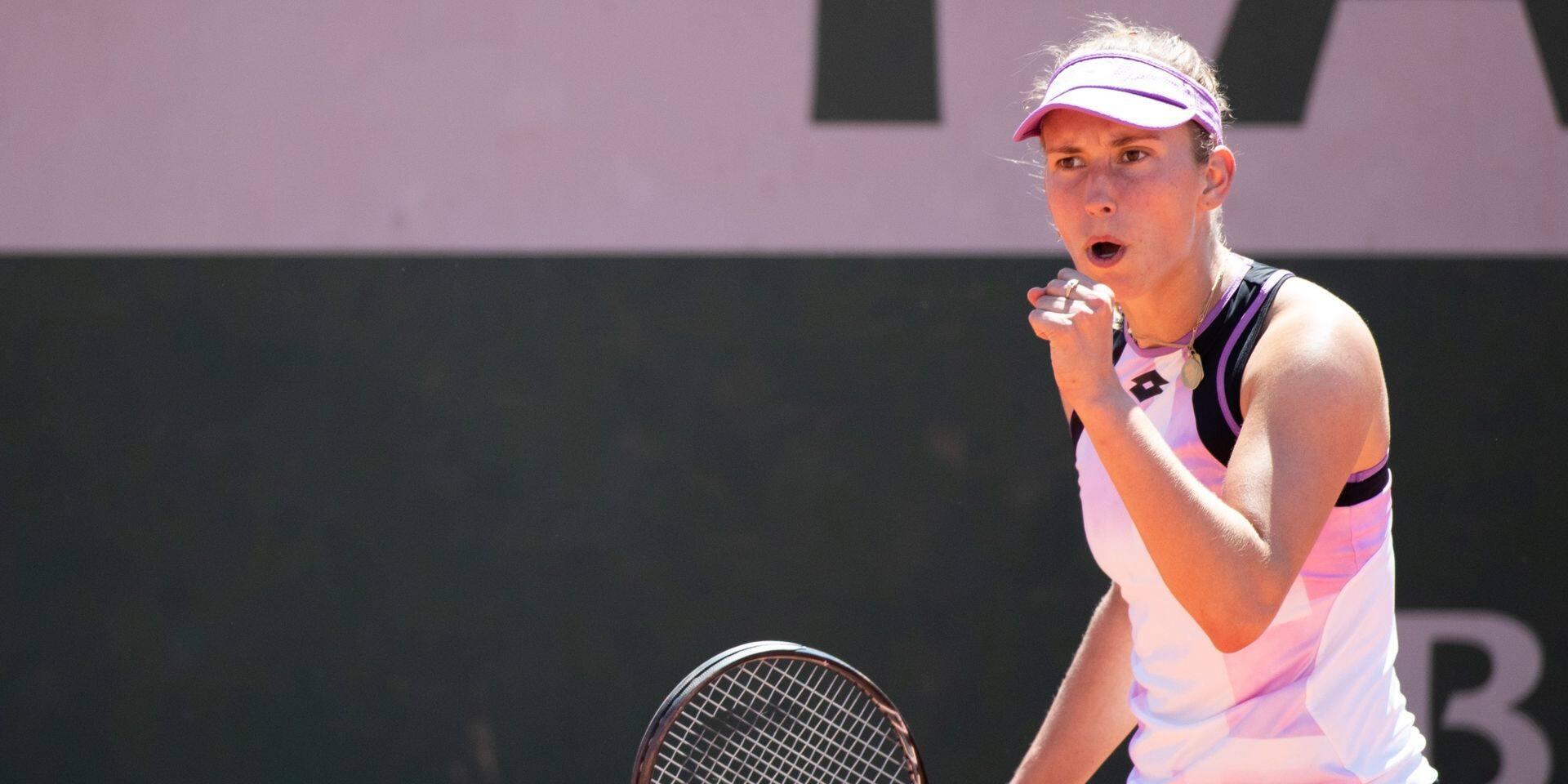 """Elise Mertens passe au 2e tour à Roland-Garros: """"C'était bizarre"""""""