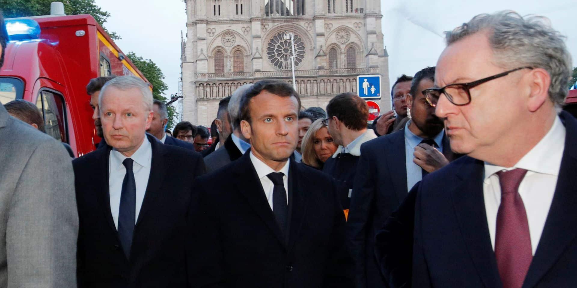 Incendie de Notre-Dame de Paris: Macron annule sa prise de parole de mercredi et rencontrera le pape