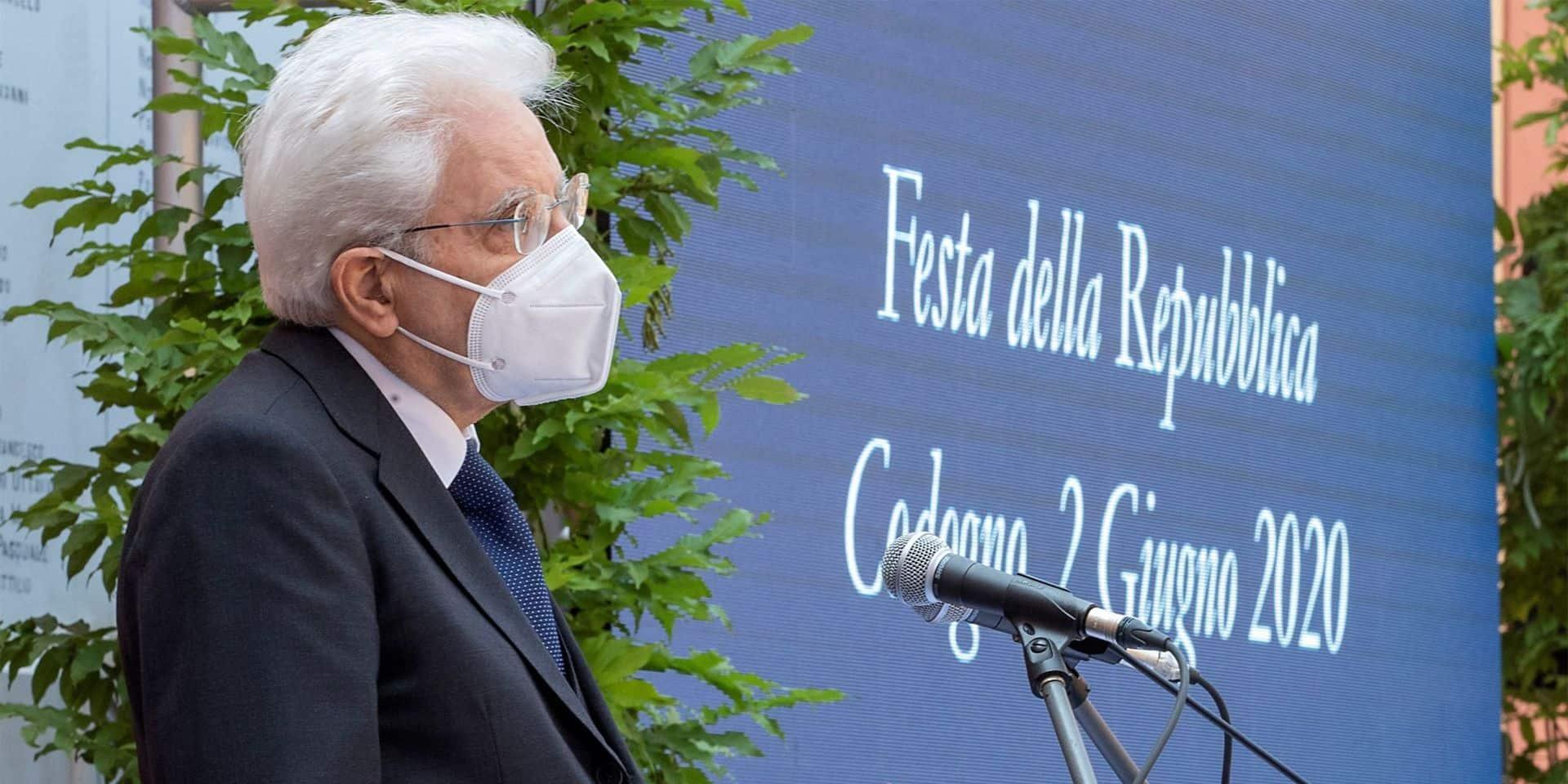 Le président italien rend hommage à 57 héros de la pandémie