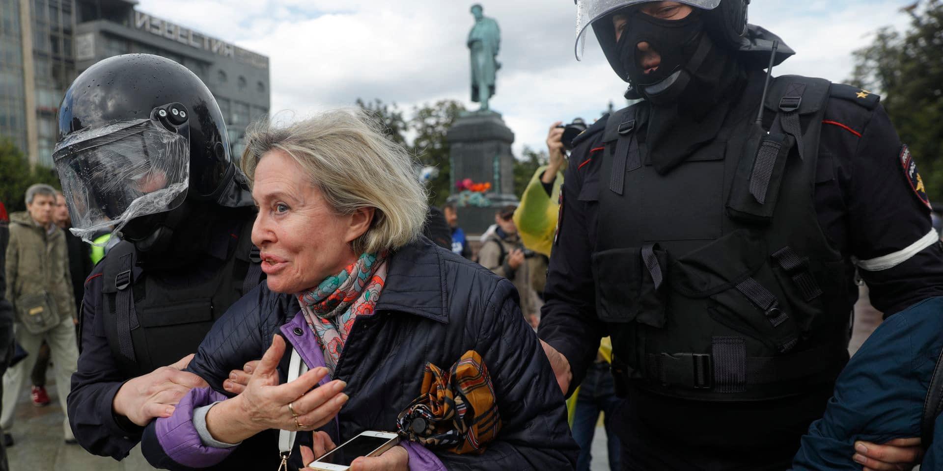 Au moins 19 arrestations à Moscou lors d'une manifestation de l'opposition
