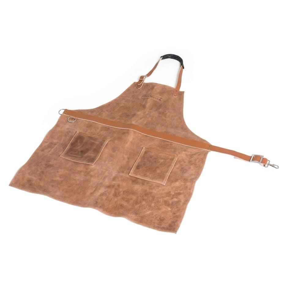 Tablier en cuir pour des barbecues d'anthologie, Barbecook, 129 €.