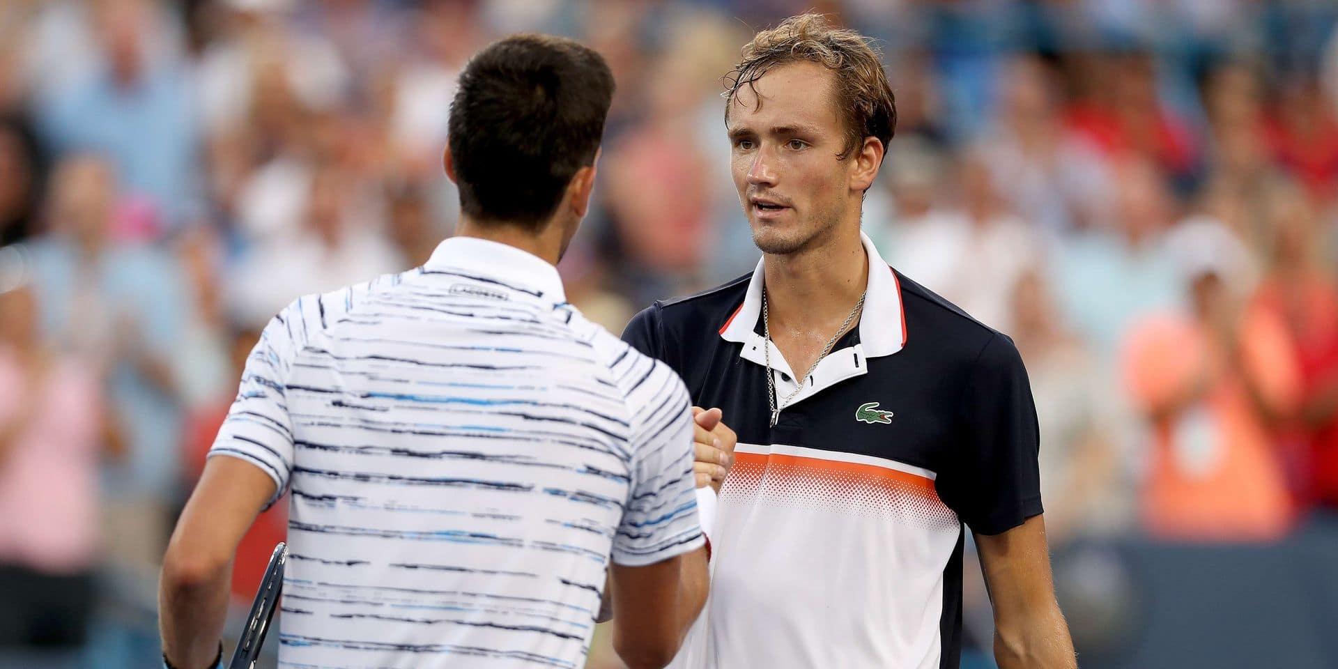 ATP Cincinnati: Djokovic éliminé en demi-finales par Medvedev