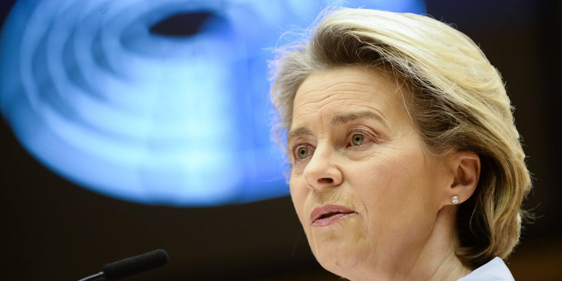 """Ursula von der Leyen reconnait des erreurs au niveau de la vaccination dans l'UE: """"Nous en tirerons des leçons"""""""