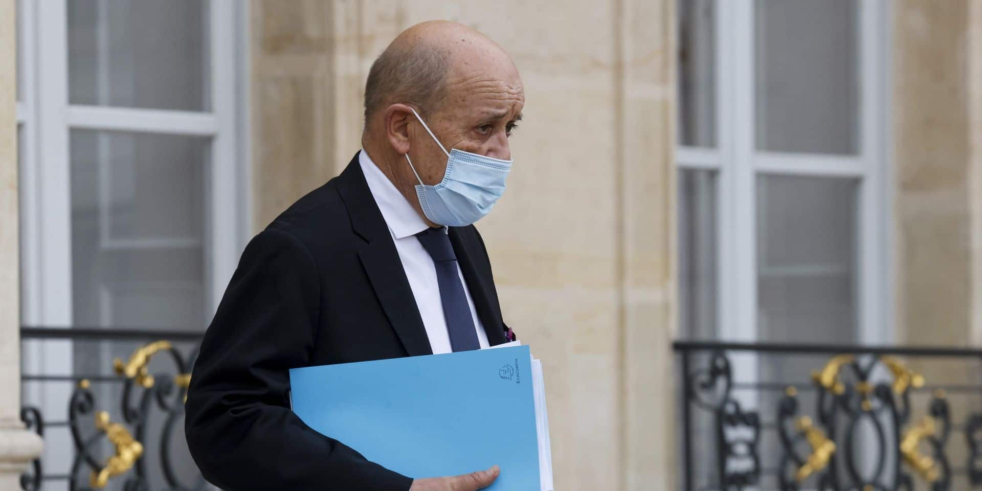 Jean-Yves Le Drian, le ministre français des Affaires étrangères, le 28 octobre 2020.