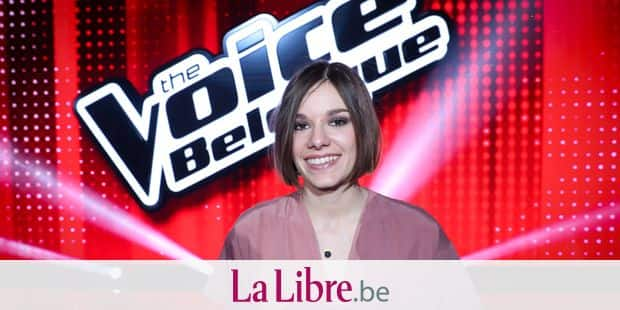 Finalist Valentine Brognion poses for the photographer after winning the final of television show 'The Voice Belgique', by Belgian French-speaking television station RTBF, Tuesday 24 April 2018 in Brussels. BELGA PHOTO VIRGINIE LEFOUR