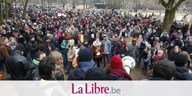 Confrontations entre police et manifestants contre le Pacte de Marrakech — Bruxelles