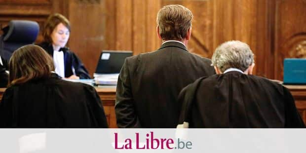 Stephan Jourdain stands near his lawyer at the start of the trial of businessman Stephan Jourdain in front of Brussels 89th criminal court of Brussels for forgery and falsification, misuse of public funds, breach of trust with several associations and copanies in the last 18 years, Monday 04 September 2017. BELGA PHOTO THIERRY ROGE