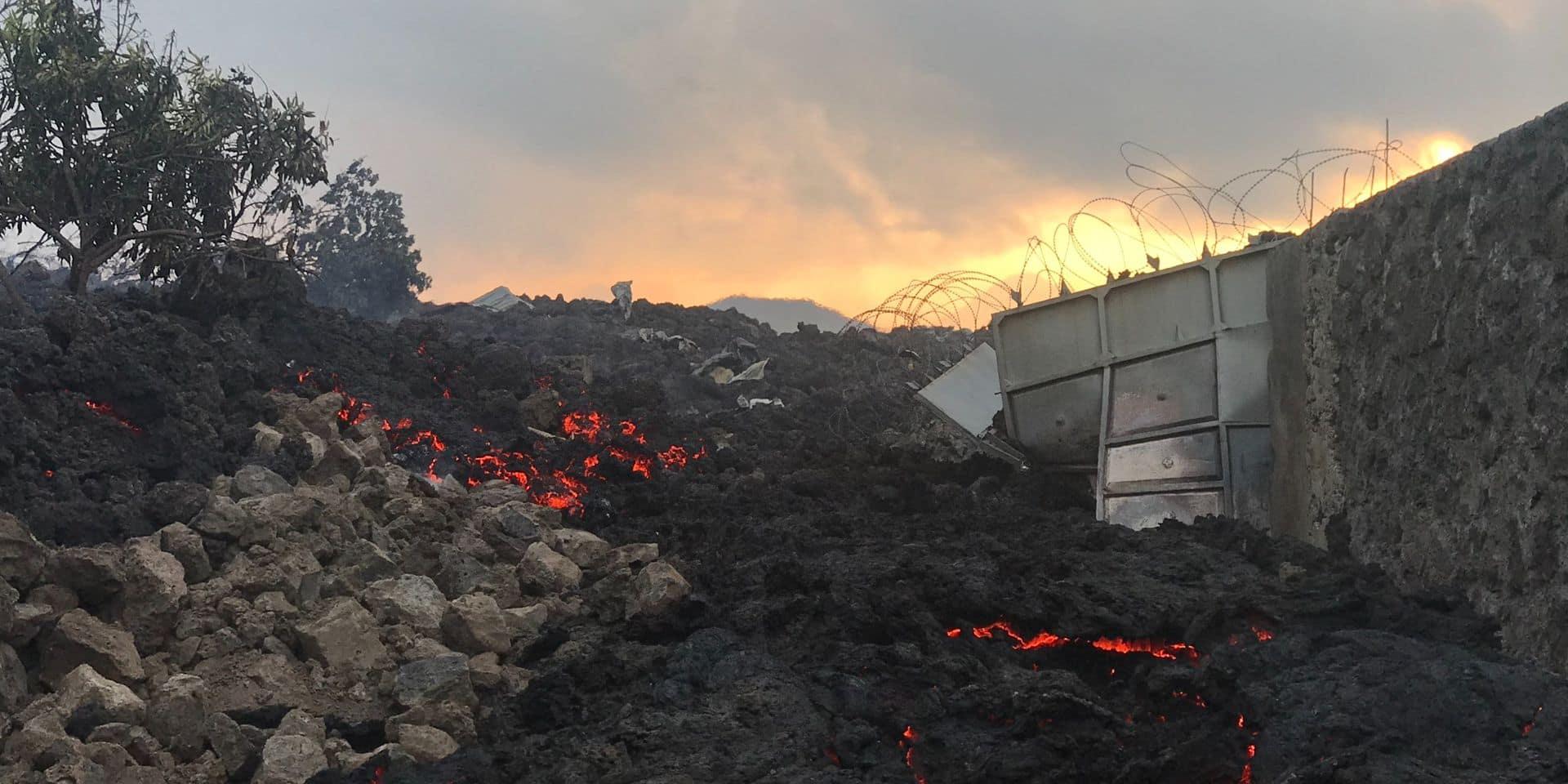 La lave du volcan Nyiragongo s'immobilise aux portes de Goma
